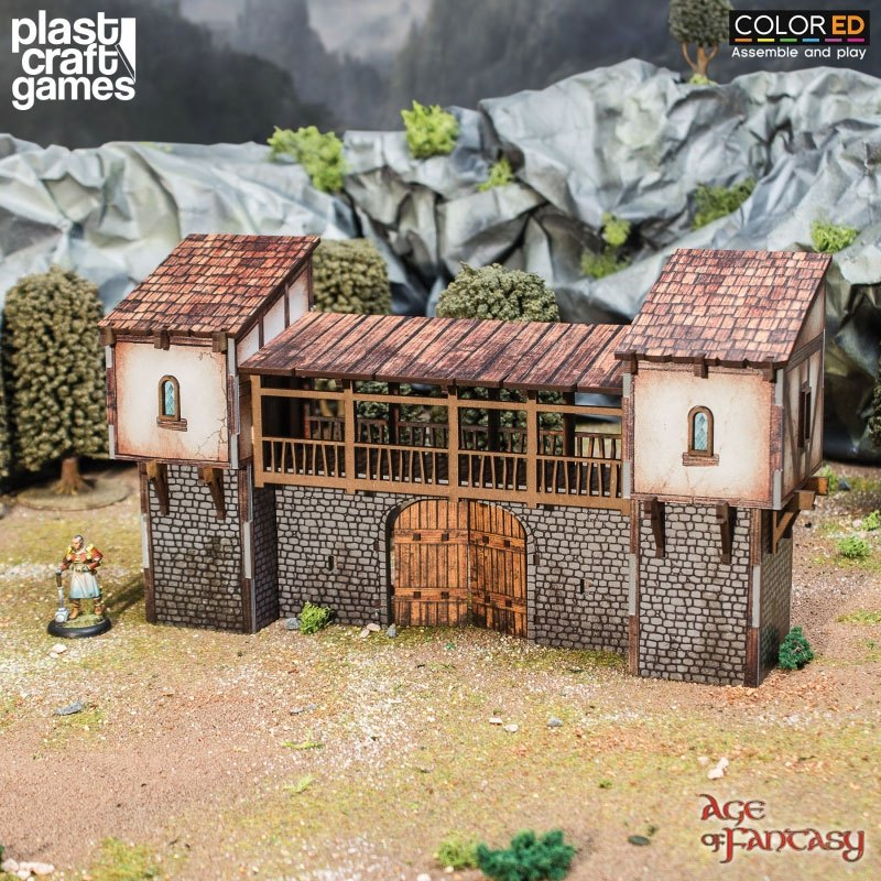 Age of Fantasy ColorED Miniature Gaming Model Kit 28 mm Blackfall Gates