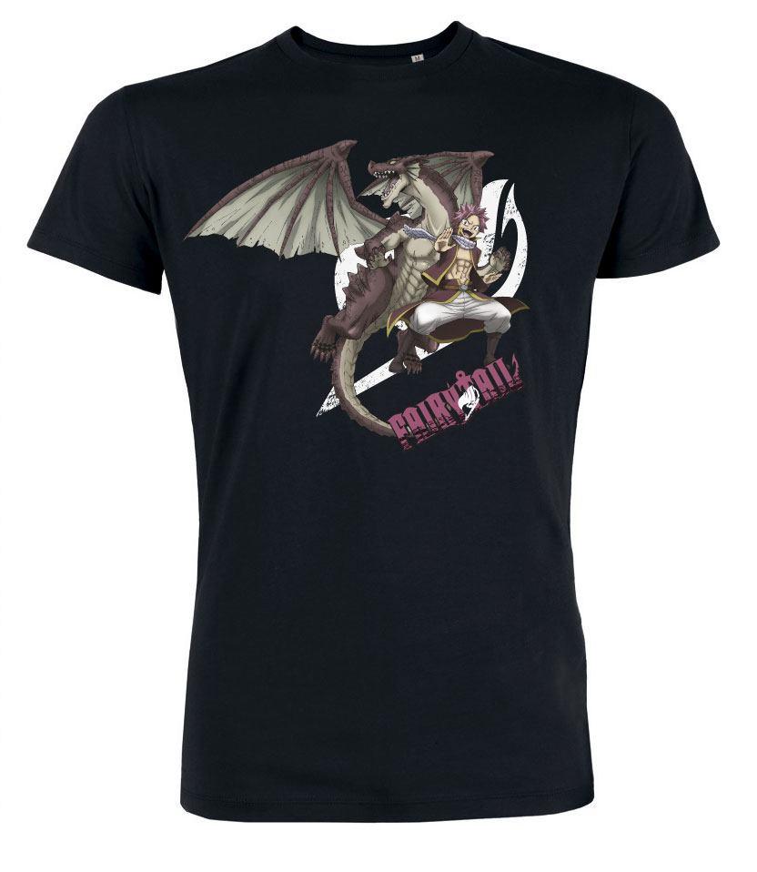Fairy Tail T-Shirt Natsu Logo Size XL