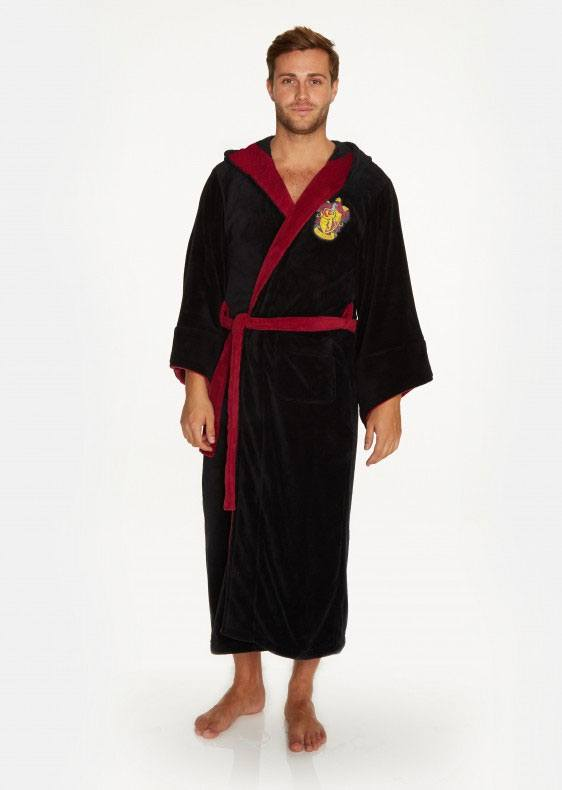 Harry Potter Fleece Bathrobe Gryffindor Wizard
