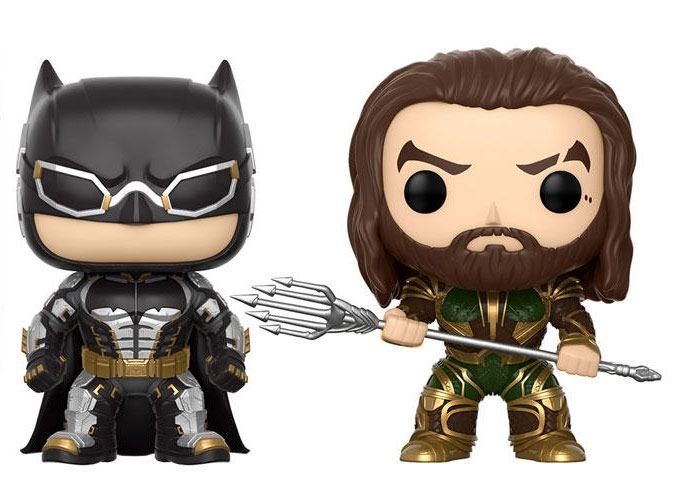 Justice League Movie POP! Marvel Vinyl Figures 2-Pack Batman & Aquaman 9 cm