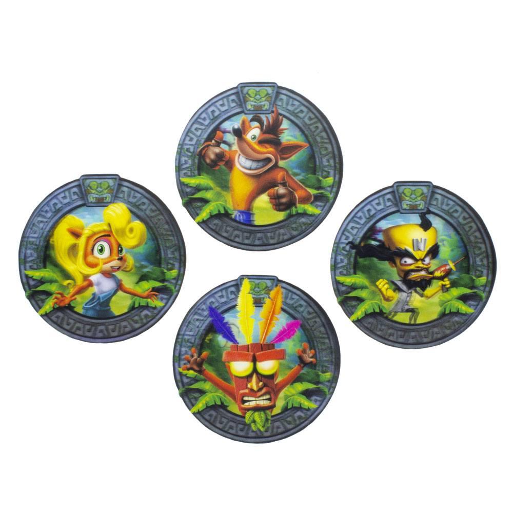 Crash Bandicoot Lenticular Coaster 4-Pack