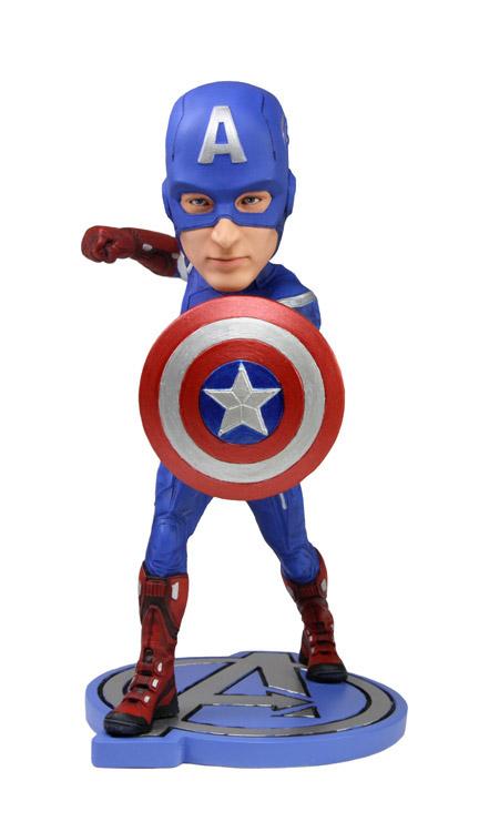 The Avengers Head Knocker Bobble-Head Captain America 18 cm