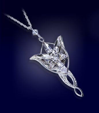 Lord of the Rings Pendant Arwen´s Evenstar (silver plated)