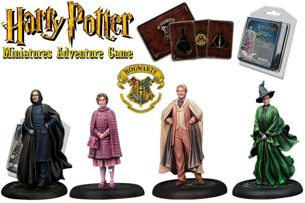 Harry Potter Miniatures 35 mm 4-pack Hogwarts Professors *English Version*