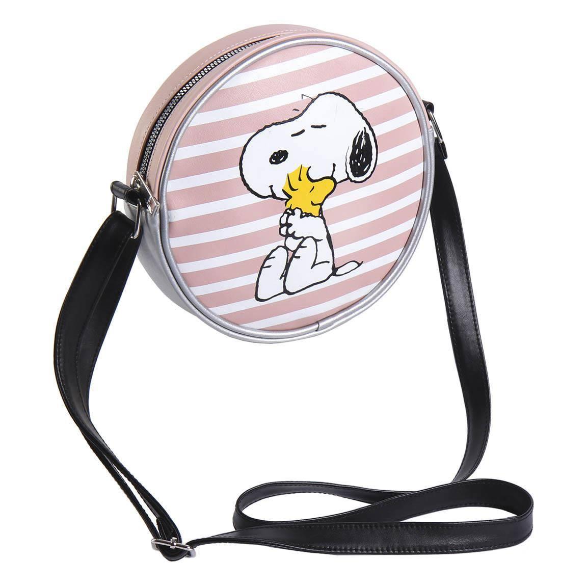 Peanuts Faux Leather Handbag Snoopy & Woodstock