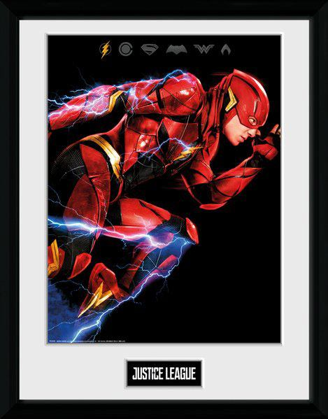 Justice League Framed Poster Flash 45 x 34 cm