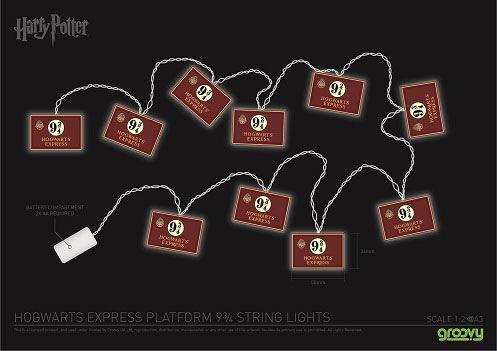Harry Potter 2D String Lights Hogwarts Express 9 3/4