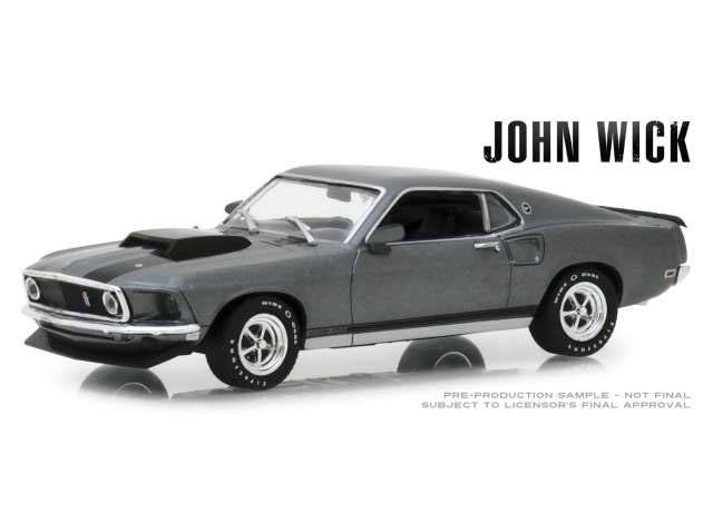 John Wick Diecast Model 1/43 1969 Ford Mustang BOSS 429