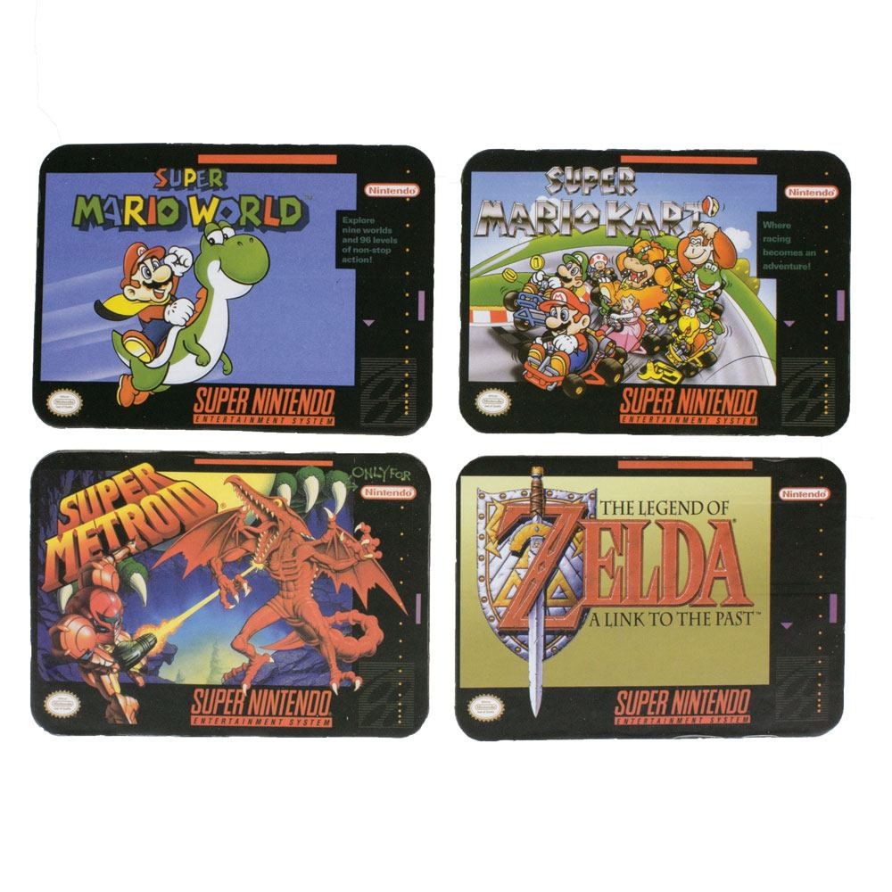 Super Nintendo Coaster 4-Pack