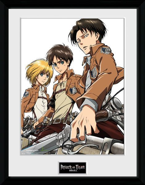 Attack on Titan Framed Poster Trio 45 x 34 cm
