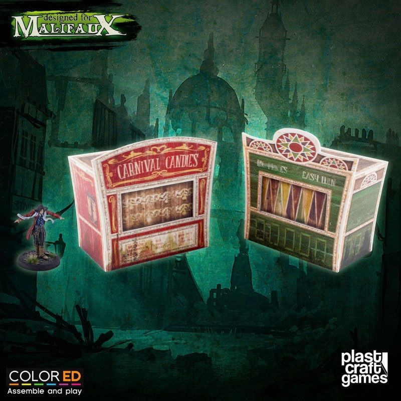 Malifaux ColorED Miniature Gaming Model Kit 32 mm Circus Stand Set