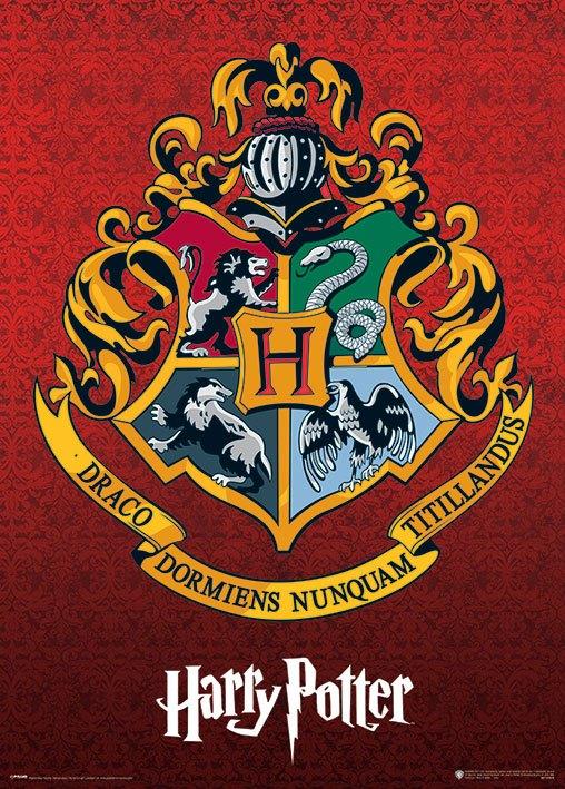 Harry Potter Metallic Poster Pack Hogwarts Crest 50 x 70 cm (5)