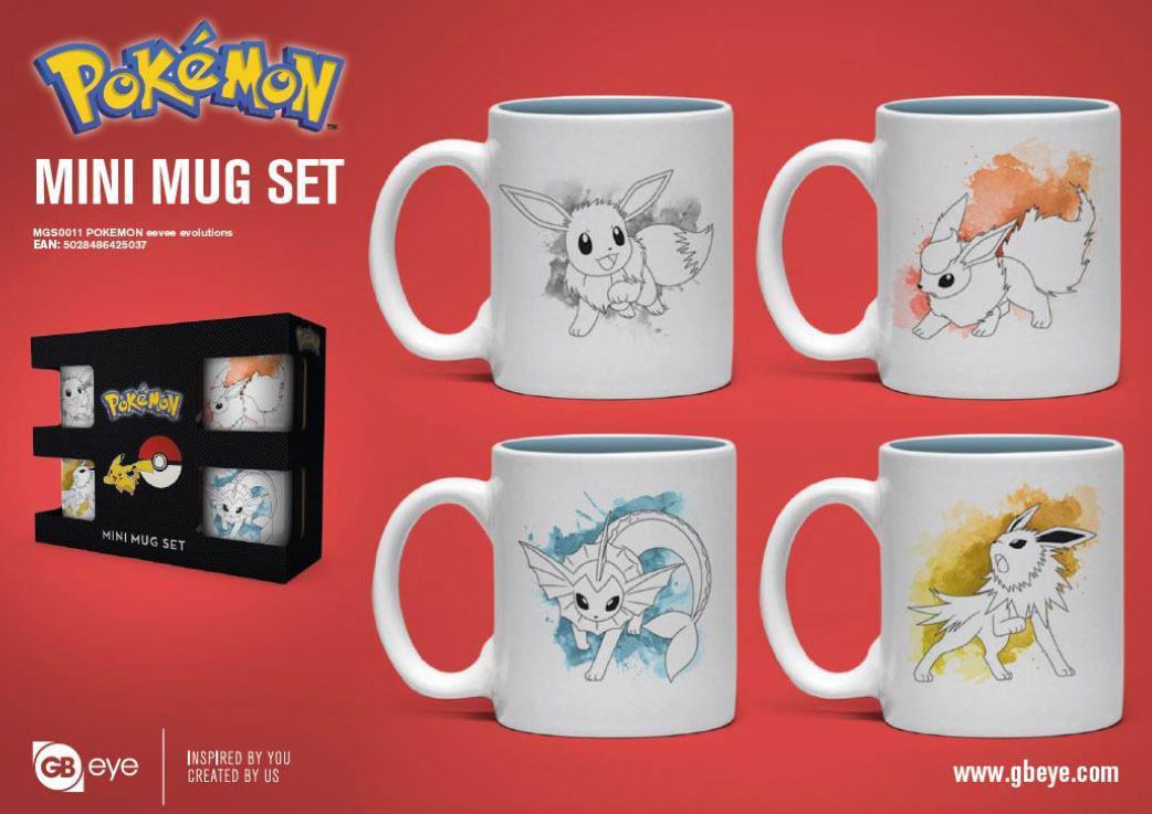 Pokémon Espresso Mugs 4-Pack Eevee Evolutions
