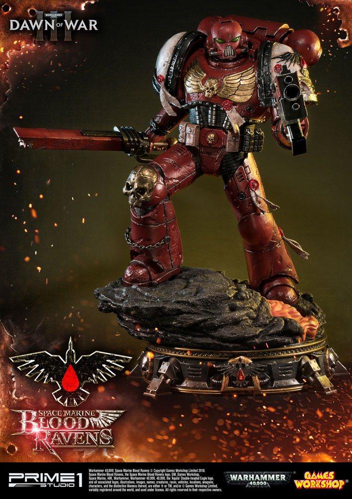 Warhammer 40K Dawn of War III Statue Space Marine Blood Ravens 72 cm