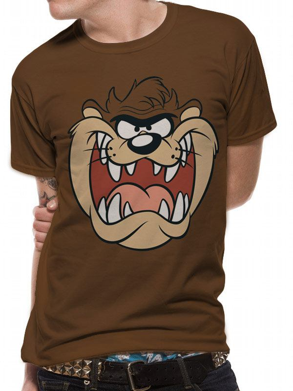 Looney Tunes T-Shirt Taz Face Size M