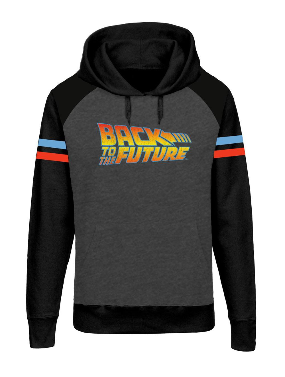Back to the Future Hooded Raglan Sweater Logo Size L