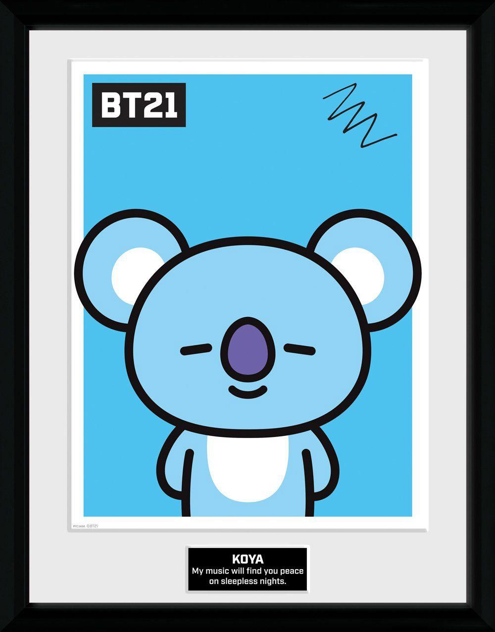 BT21 Framed Poster Koya