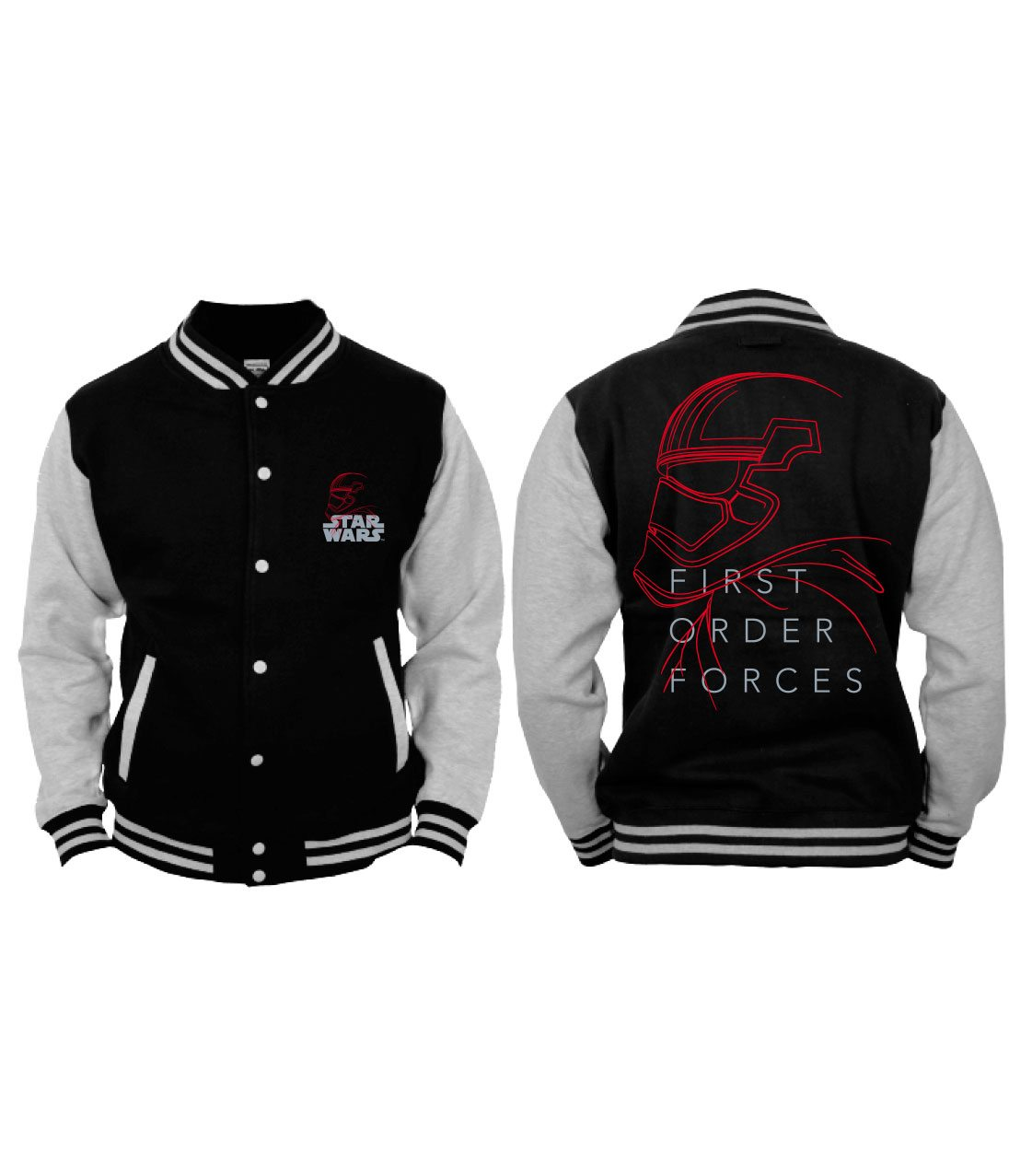 Star Wars Episode VIII Baseball Varsity Jacket First Order Force Stormtrooper Size XL