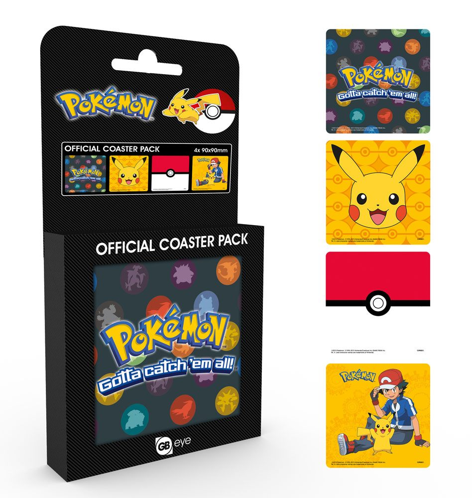 Pokemon Coaster 4-pack Mix