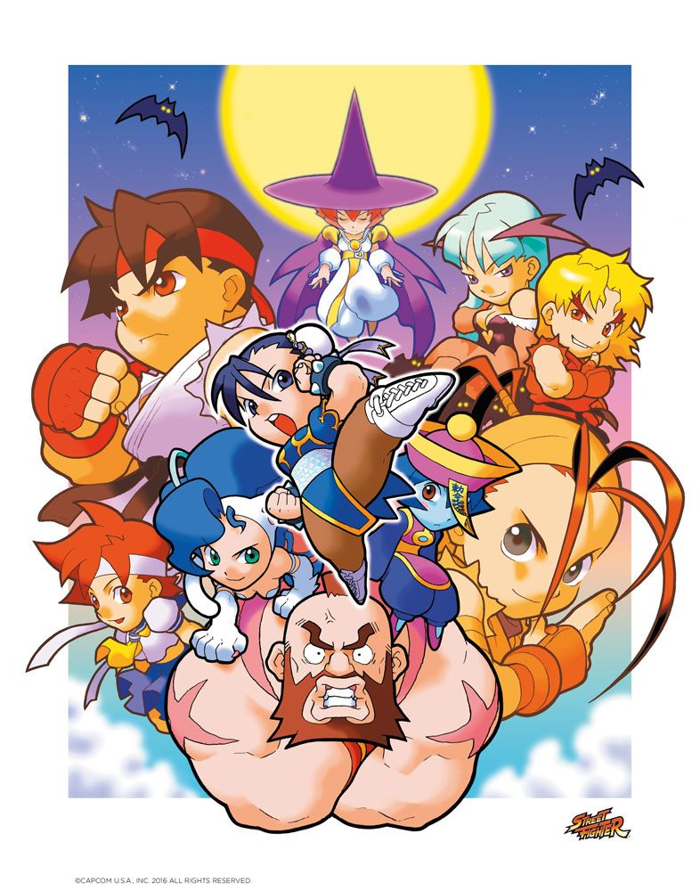Street Fighter Art Print Lets Go Manga 35 x 28 cm