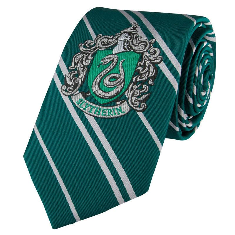 Harry Potter Kids Woven Necktie Slytherin New Edition