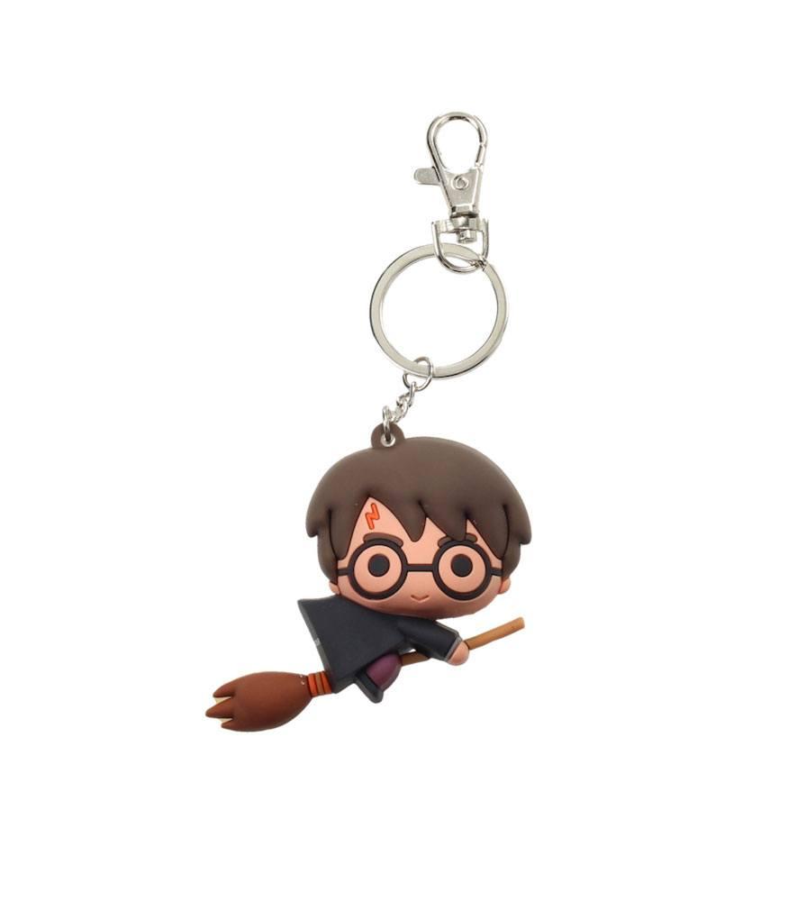 Harry Potter Rubber Keychain Harry Potter & Broom Nimbus 7 cm