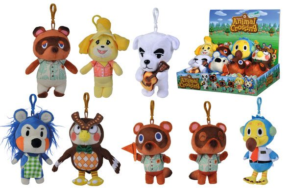 Animal Crossing Plush Keychains Residents 15 cm Assortment (12)