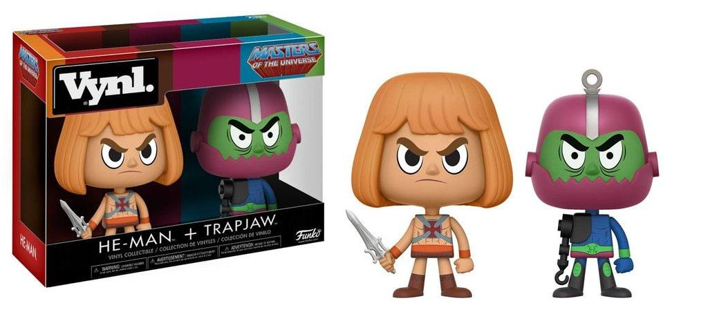 Masters of the Universe VYNL Vinyl Figures 2-Pack He-Man & Trap Jaw 10 cm