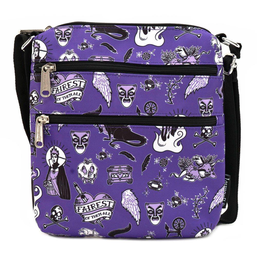 Disney by Loungefly Passport Bag Villain Icons AOP