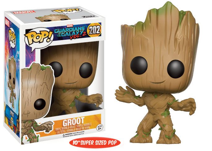 Guardians of the Galaxy Vol. 2 Super Sized POP! Marvel Vinyl Figure Young Groot 25 cm