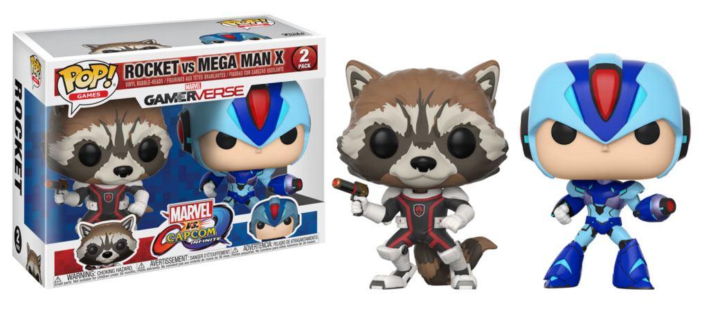 Marvel vs. Capcom Infinite POP! Games Vinyl Figure 2-Pack Rocket vs. Mega Man X 9 cm