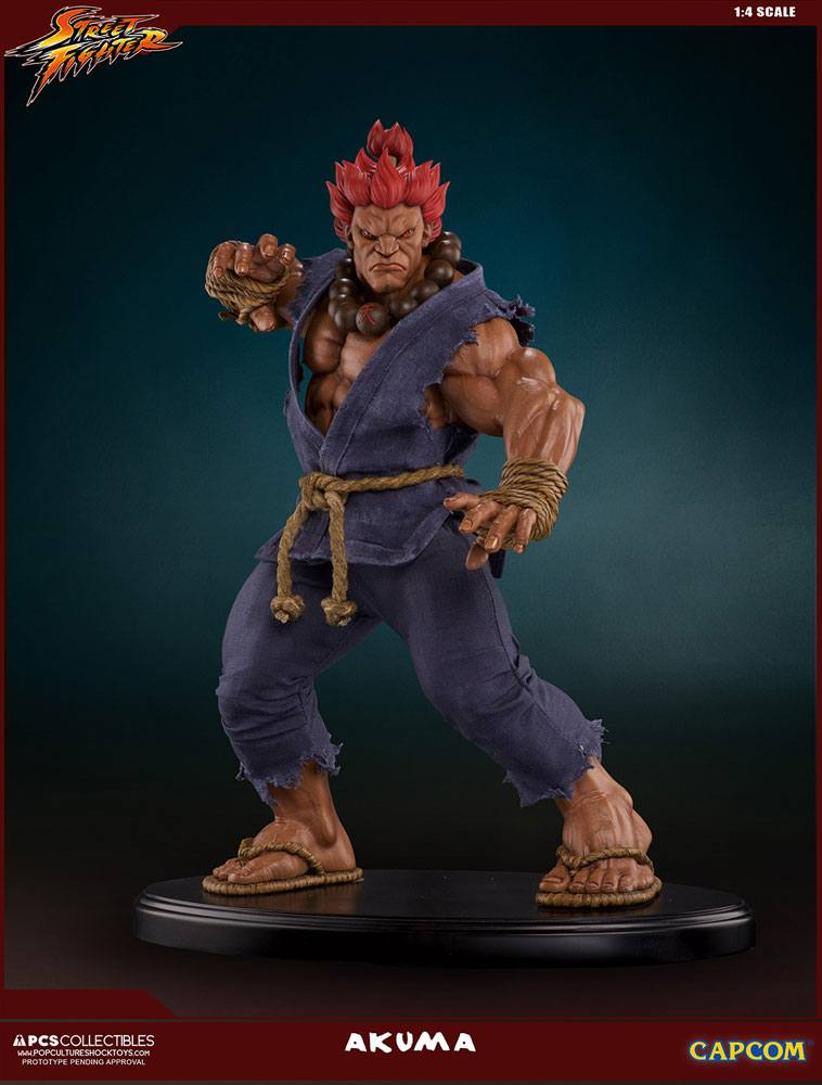 Street Fighter Mixed Media Statue 1/4 Akuma Retail Version 45 cm