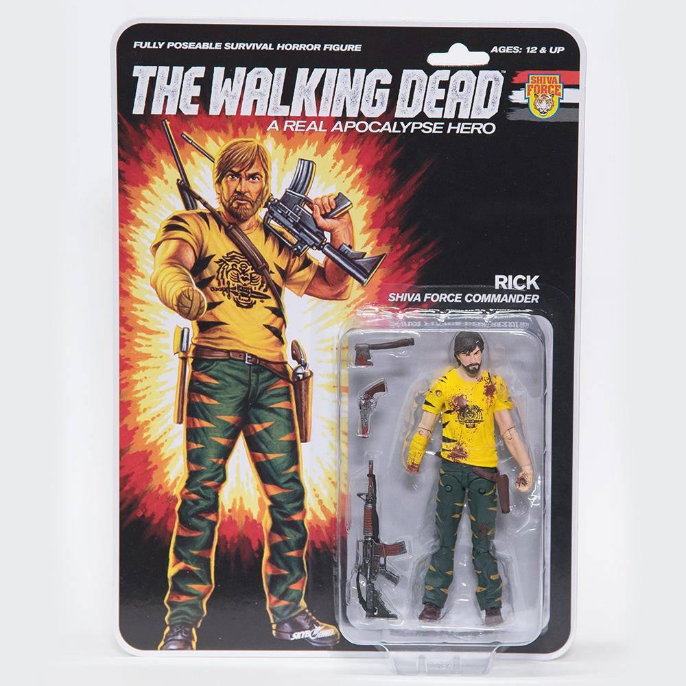 The Walking Dead Action Figure Shiva Force Commander Rick (Bloody) 13 cm