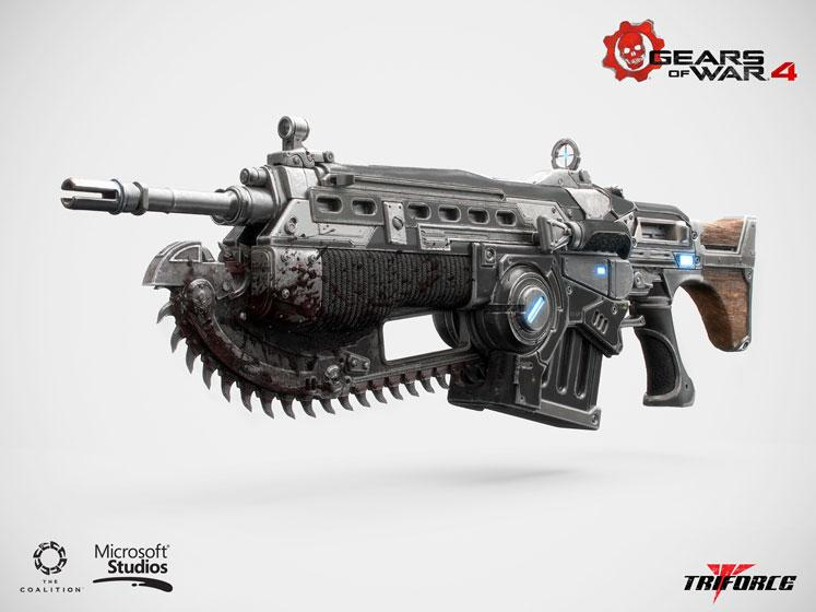 Gears of War 4 Replica 1/1 Custom Lancer 102 cm