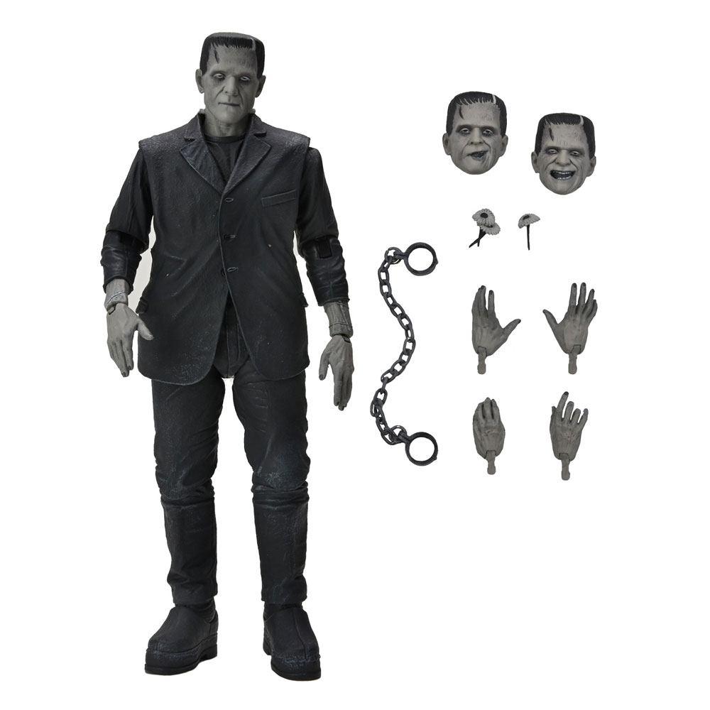 Universal Monsters Action Figure Ultimate Frankenstein's Monster (Black & White) 18 cm
