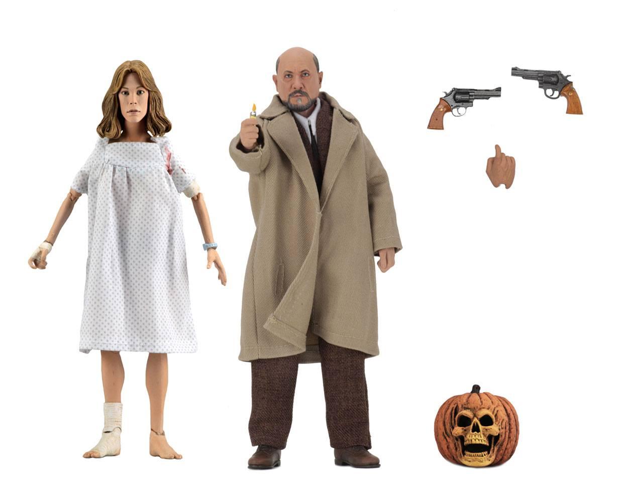 Halloween 2 Retro Action Figure 2-Pack Doctor Loomis & Laurie Strode 20 cm