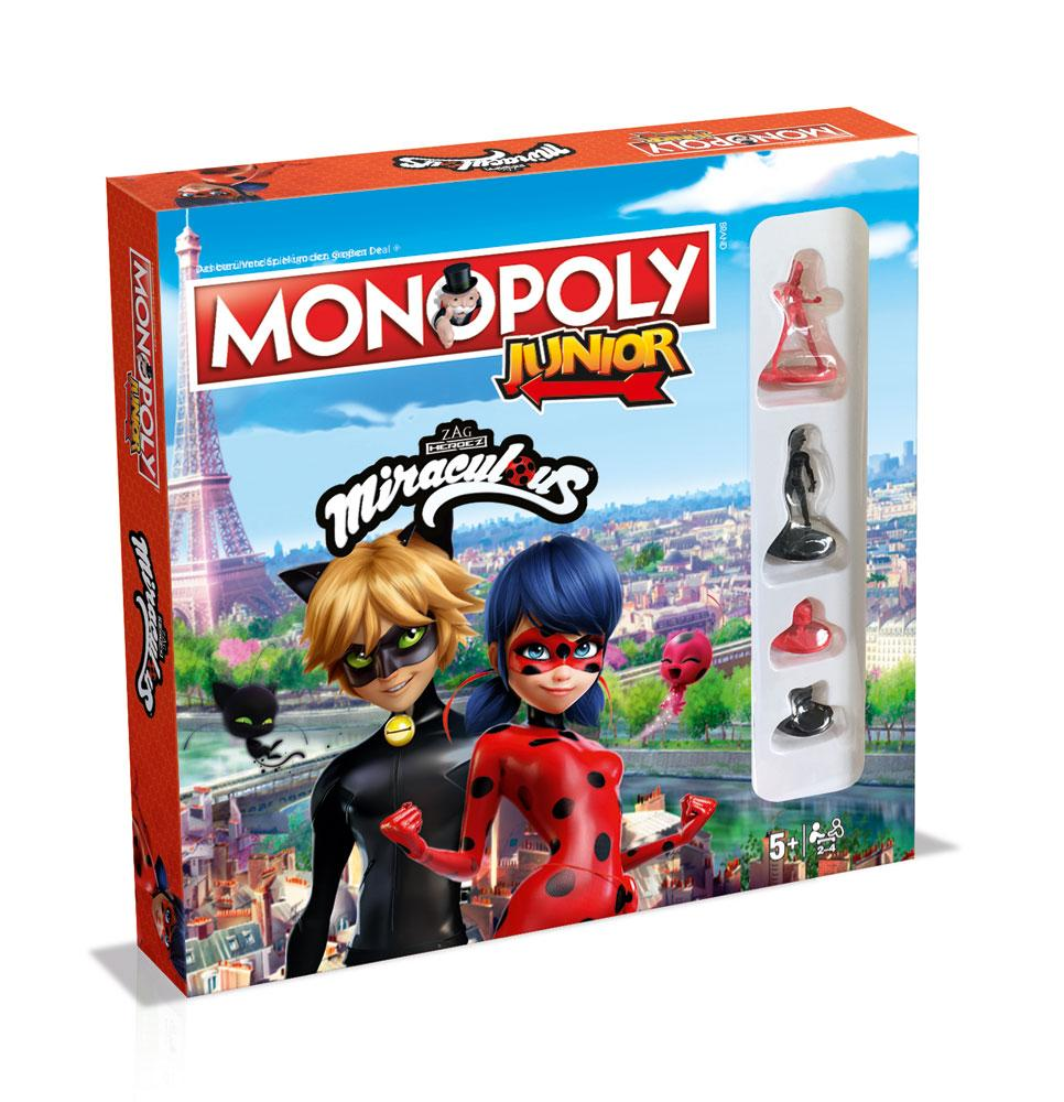 Miraculous: Tales of Ladybug & Cat Noir Board Game Monopoly Junior *German Version*