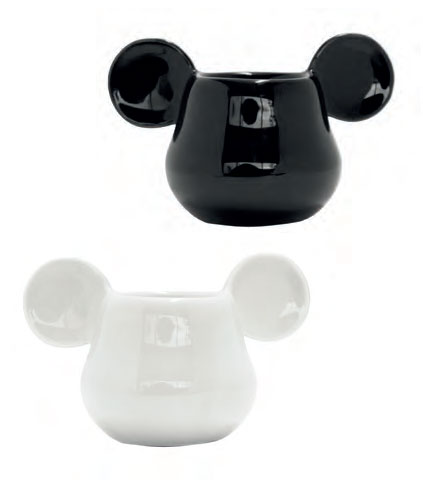 Mickey Mouse 3D Espresso Mugs 2-Pack Black & White