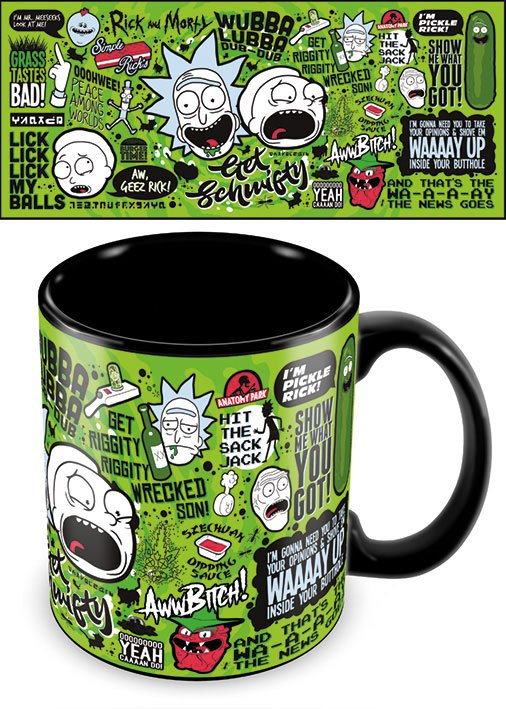 Rick and Morty Mega Mug Quotes