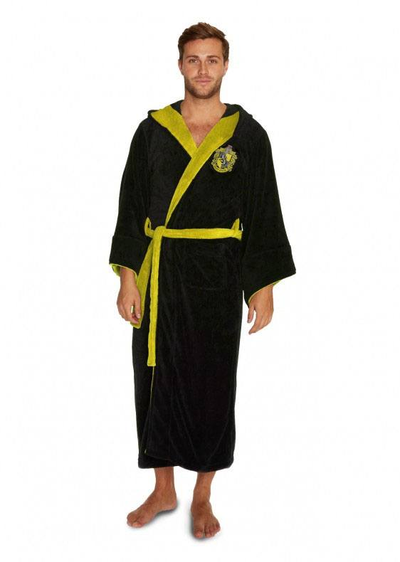 Harry Potter Fleece Bathrobe Hufflepuff