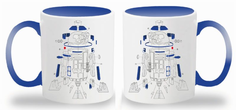 Star Wars Episode VIII Mug Exploded View R2-D2