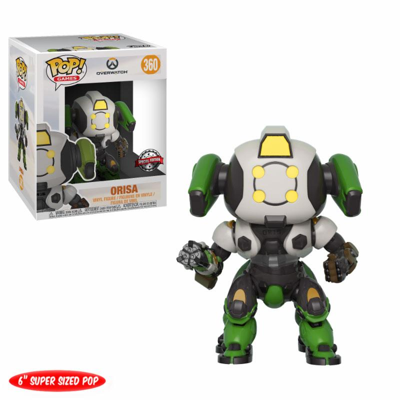 Overwatch Super Sized POP! Games Vinyl Figure Orisa OR-15 Skin GameStop Exclusive 15 cm
