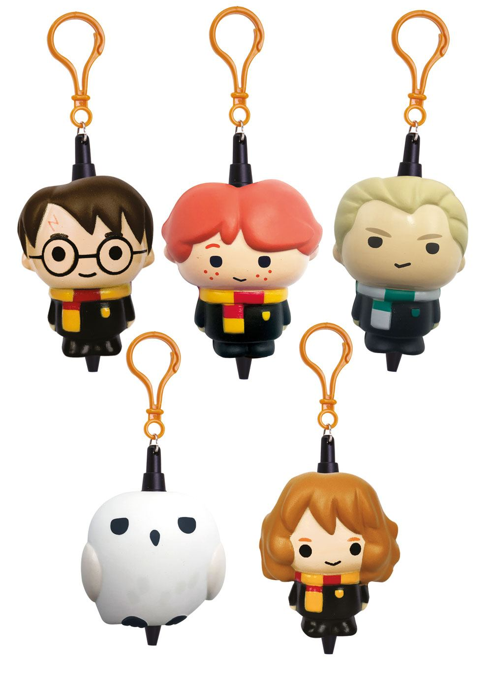 Harry Potter Squishies Rubber Keychain / Mini Pen Display (25)