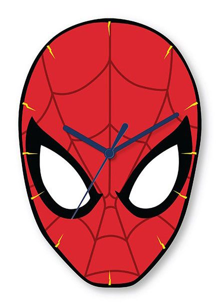 Spider-Man Shaped Wall Clock Spidey