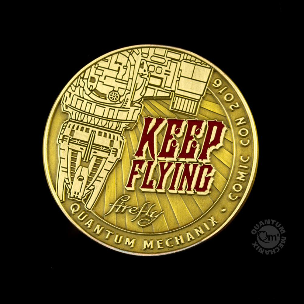 Firefly Challenge Coin Keep Flying SDCC 2016