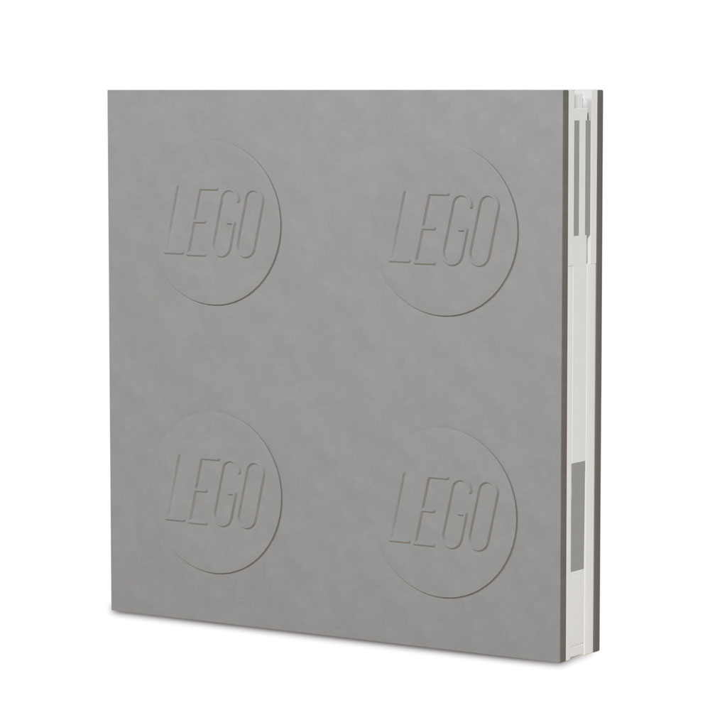 LEGO Notebook with Pen Grey