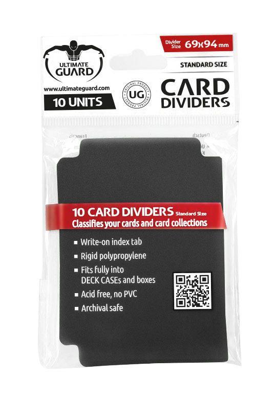 Ultimate Guard Card Dividers Standard Size Black (10)
