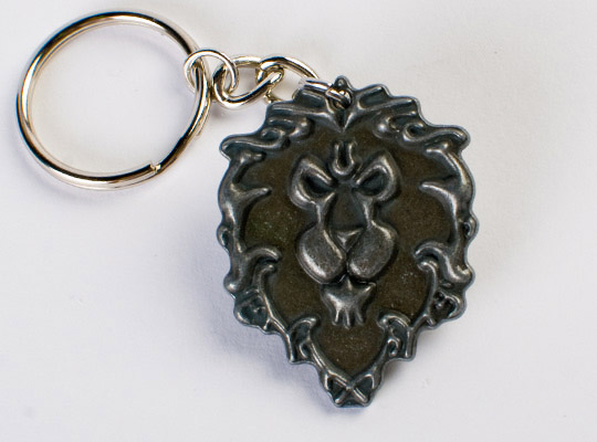World of Warcraft Metal Keychain Alliance