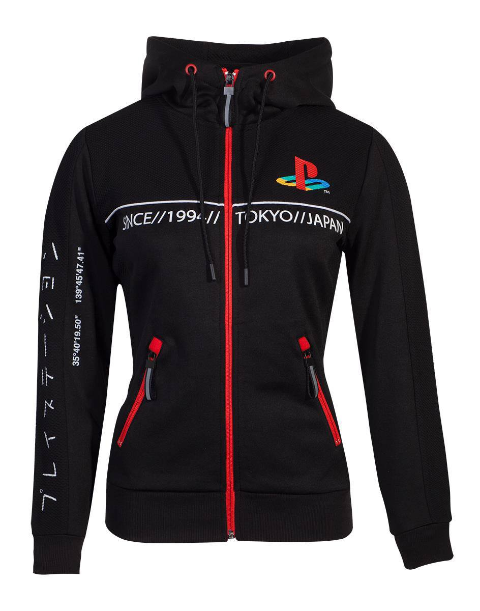 Sony Playstation Ladies Hooded Sweater Cut & Sew Tech19 Size M