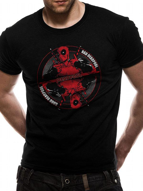 Deadpool T-Shirt Bad Good Size M